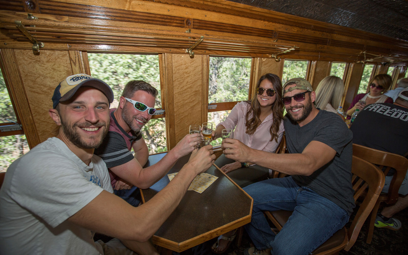 Sample beers from local brewers on Colorado's Durango Brew Train.