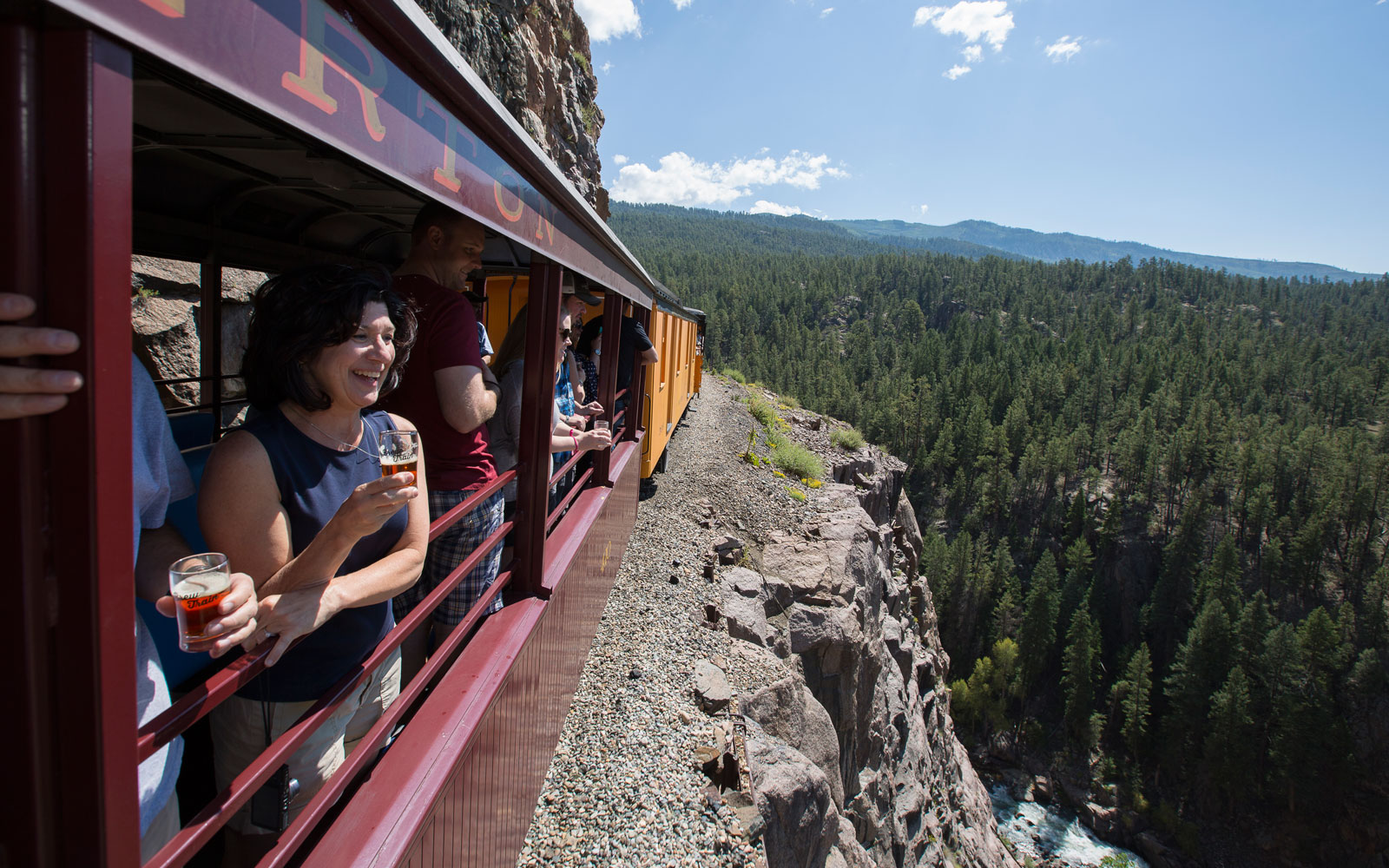 Get sky-high views over the Animas River on the Durango Brew Train.