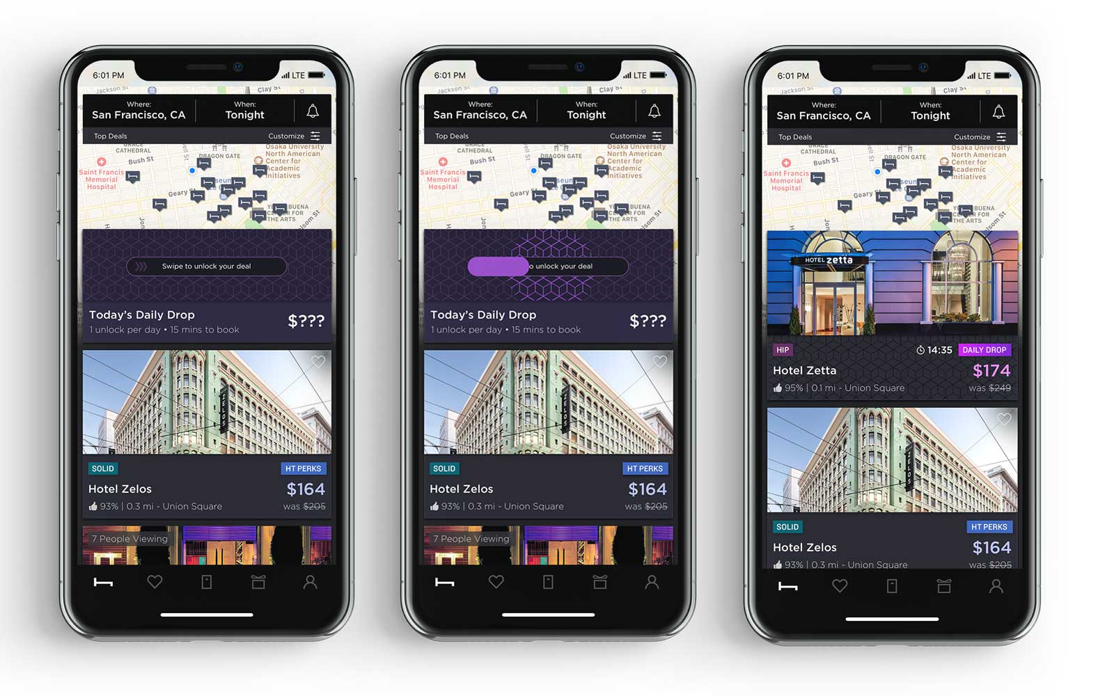 HotelTonight App Daily Drop