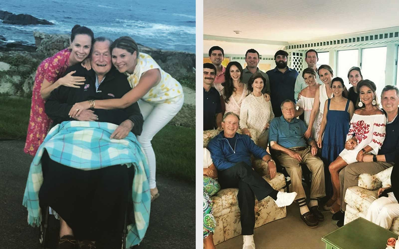 The Bush Family Got Matching T-shirts for Their Summer Reunion in Maine