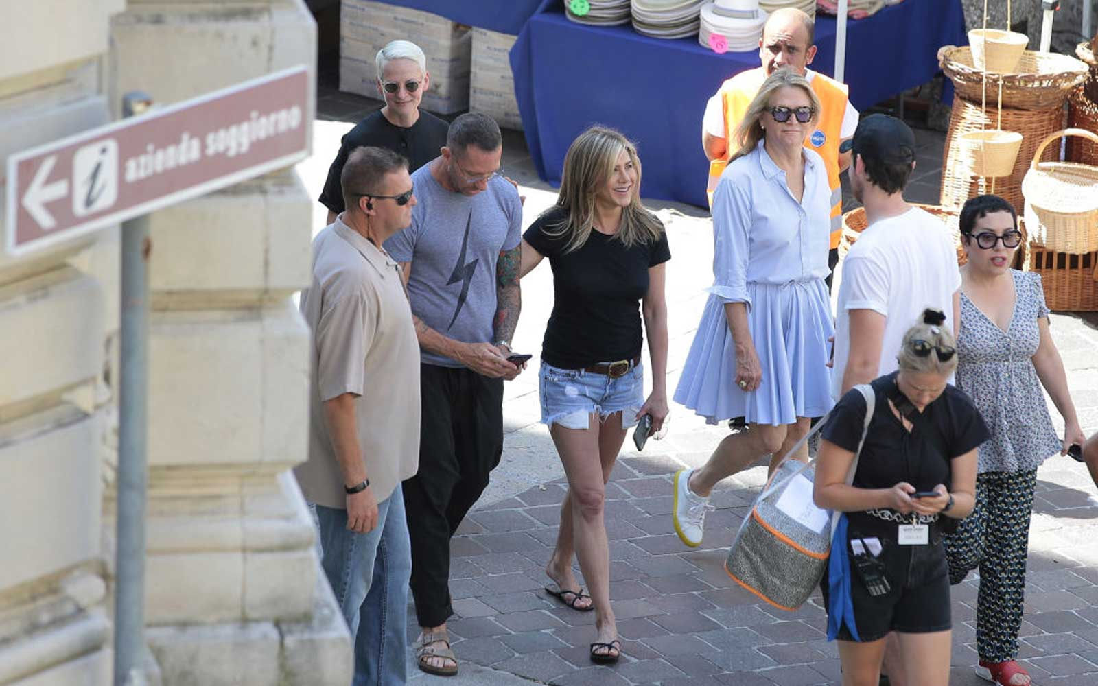 Jennifer Aniston and Adam Sandler Spent One Glorious Weekend in Lake Como With George Clooney