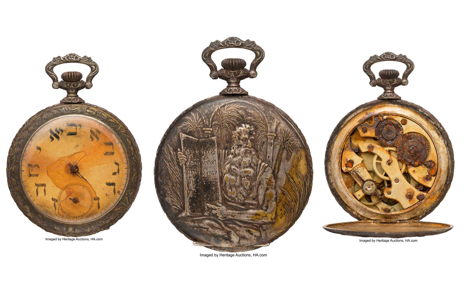 Pocket watch from Titanic ship passenger sold at Auction