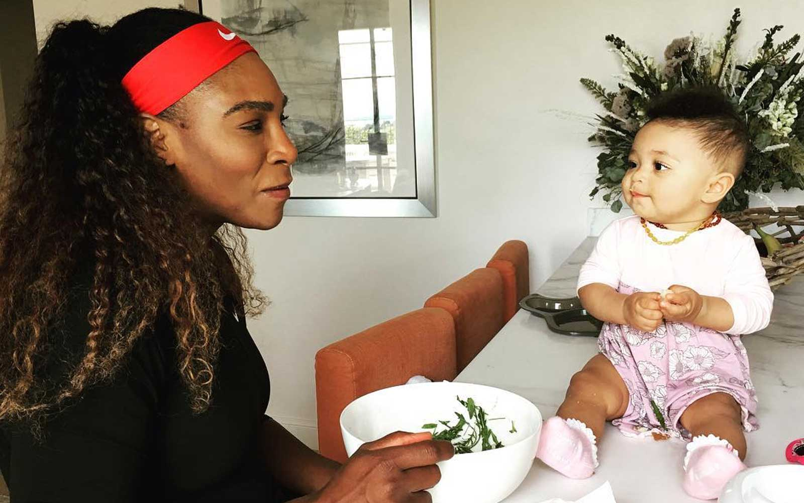 Serena Williams' 11-month-old Daughter Is Already Learning French