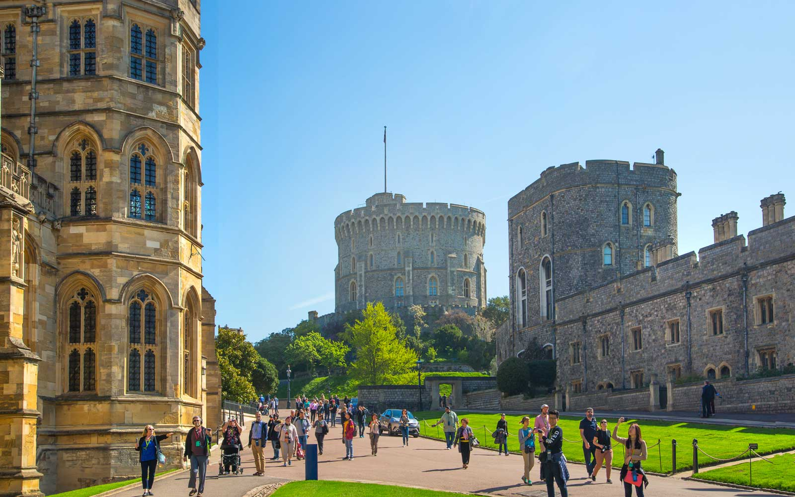 England, UK. Windsor Castle is official Residence of Her Majesty The Queen and  hostage of Prince Harry and Meghan Markle wedding on 19 May 2018.