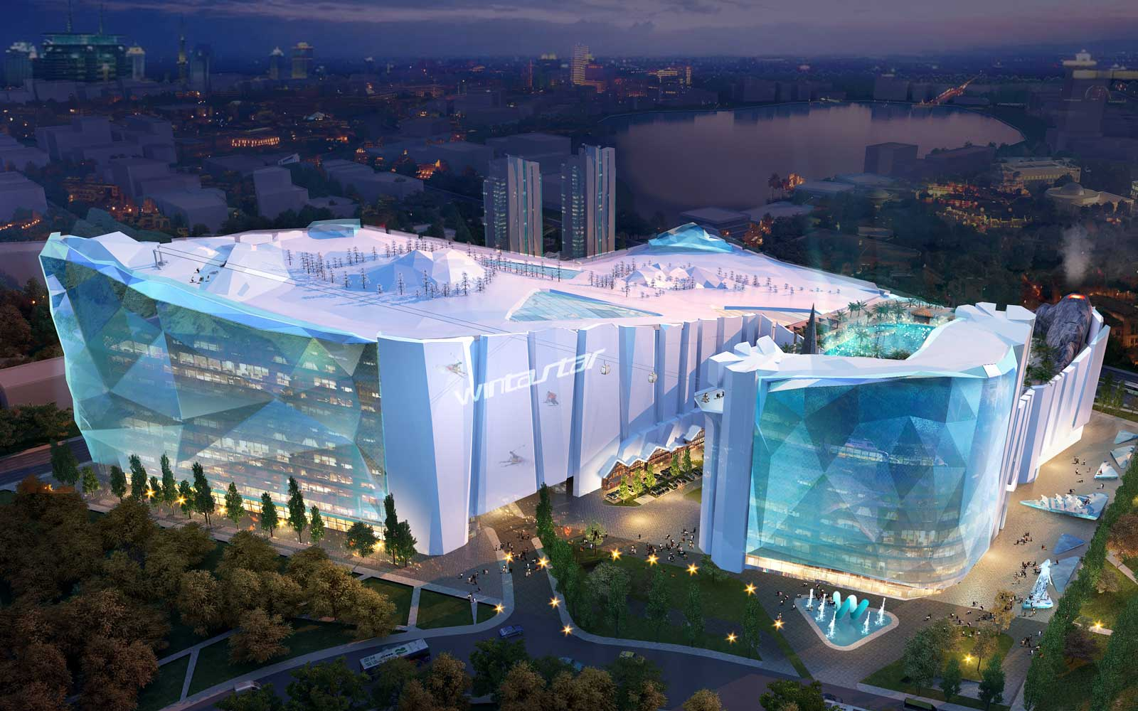 The World's Largest Indoor Ski Resort Will Have an Ice Hotel
