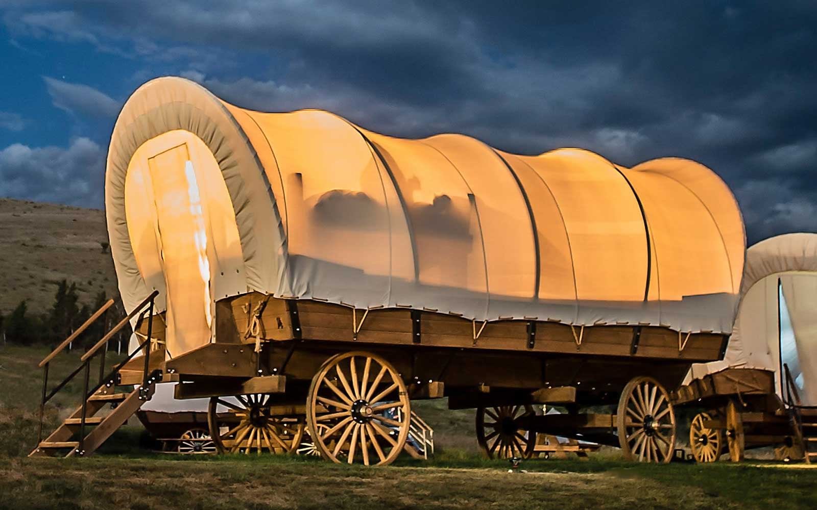 Covered Wagon Glamping at Yosemite Pines Resort