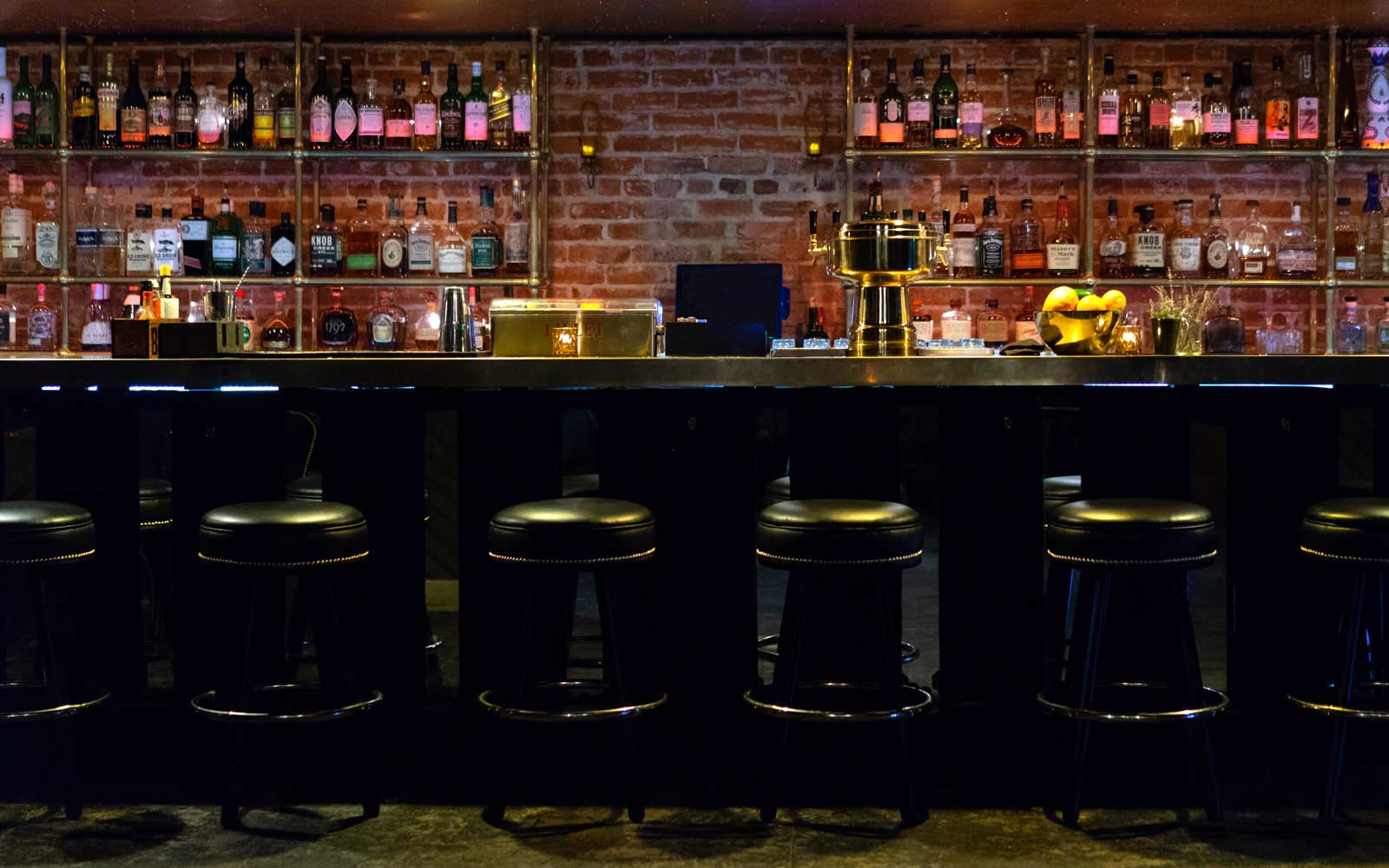 Bar at the Gold-Diggers hotel and recording studio in Los Angeles