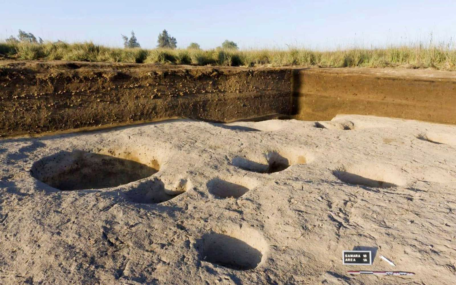 This photo released by the Egyptian Ministry of Antiquities shows one of the oldest villages ever found in the Nile Delta, with remains dating back to before the pharaohs in Tell el-Samara