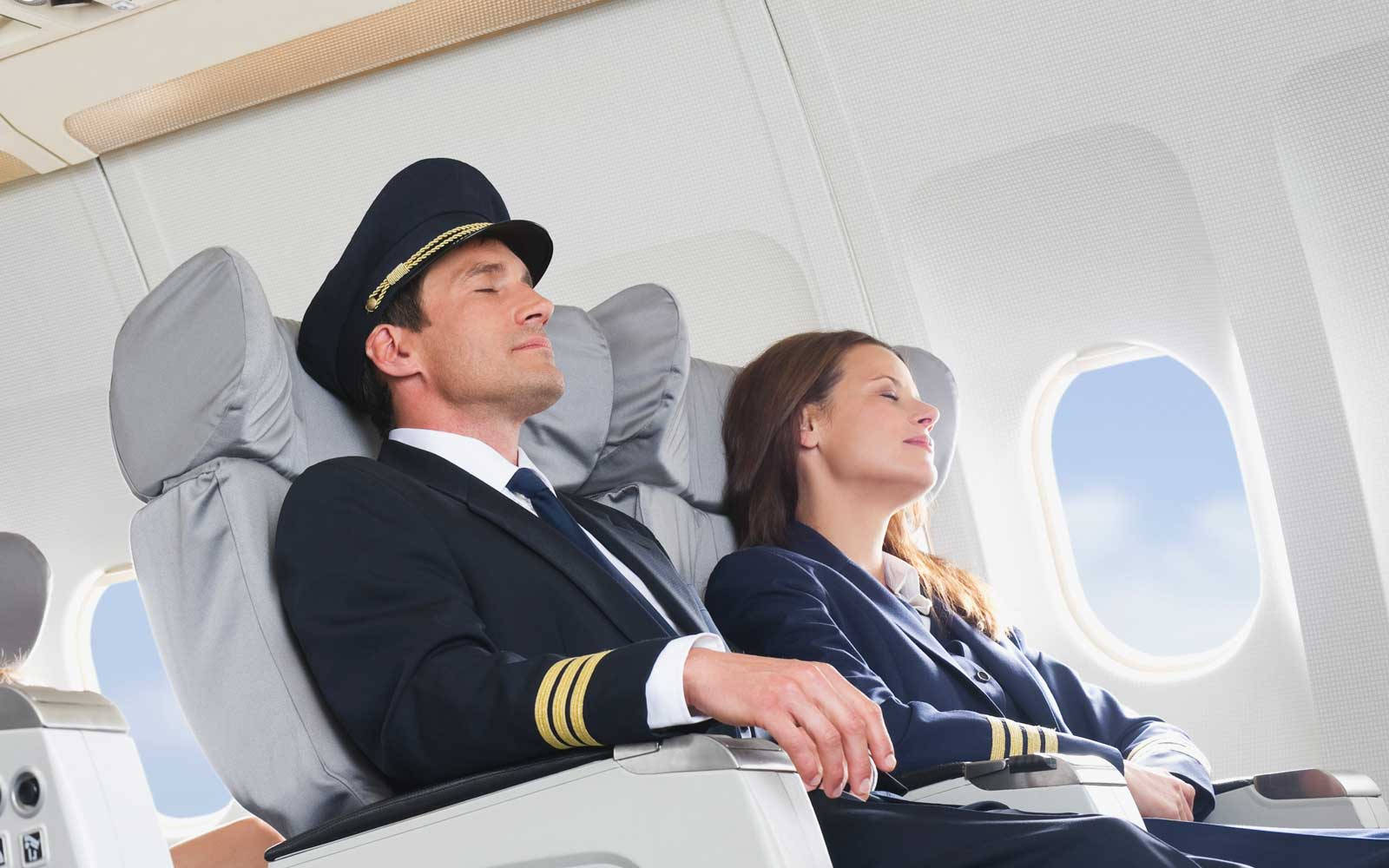 Don't be alarmed if you see your pilot resting on a flight as it's actually required by law.