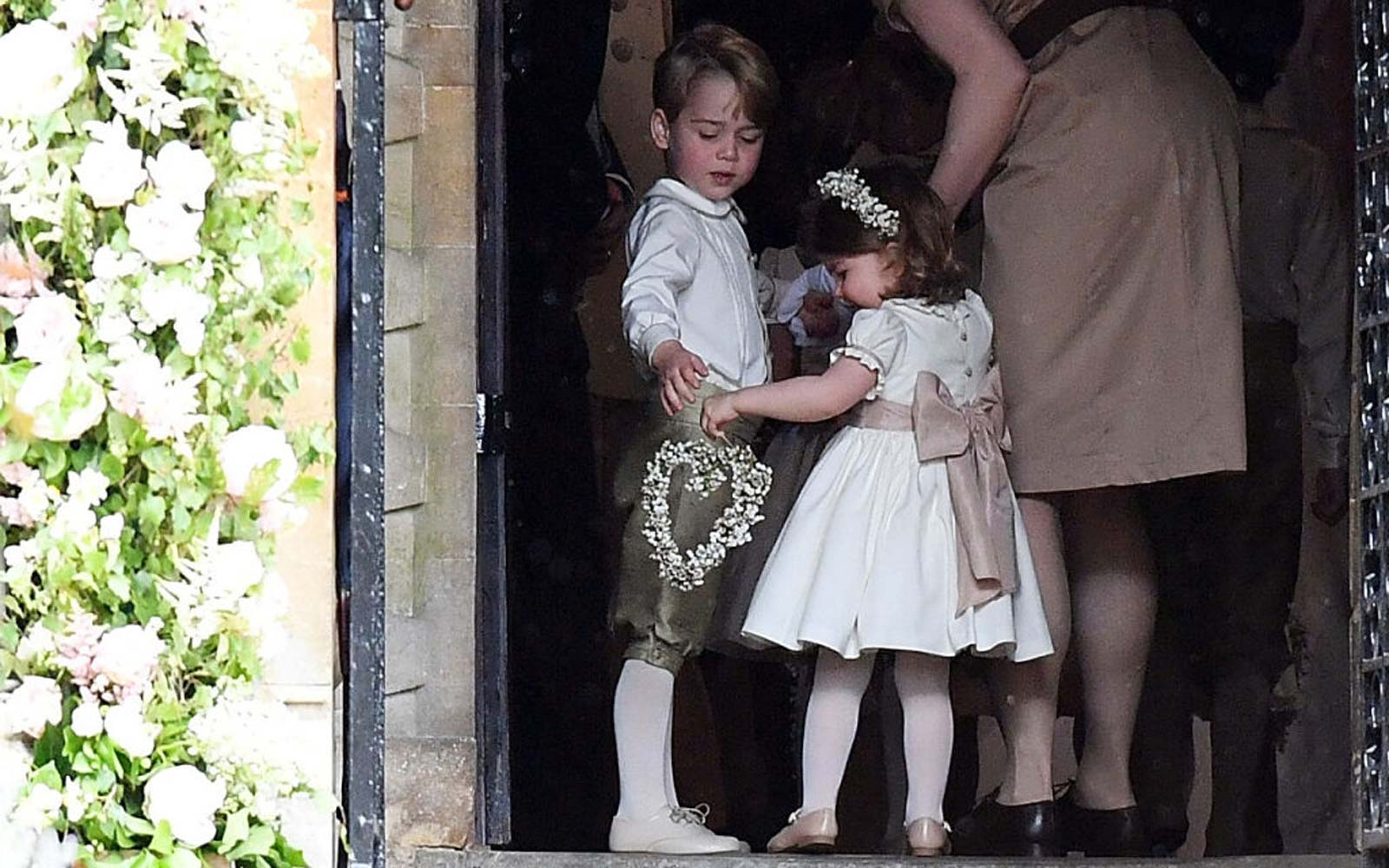Prince George and Princess Charlotte Got Into Adorable Antics at a Family Friend's Wedding