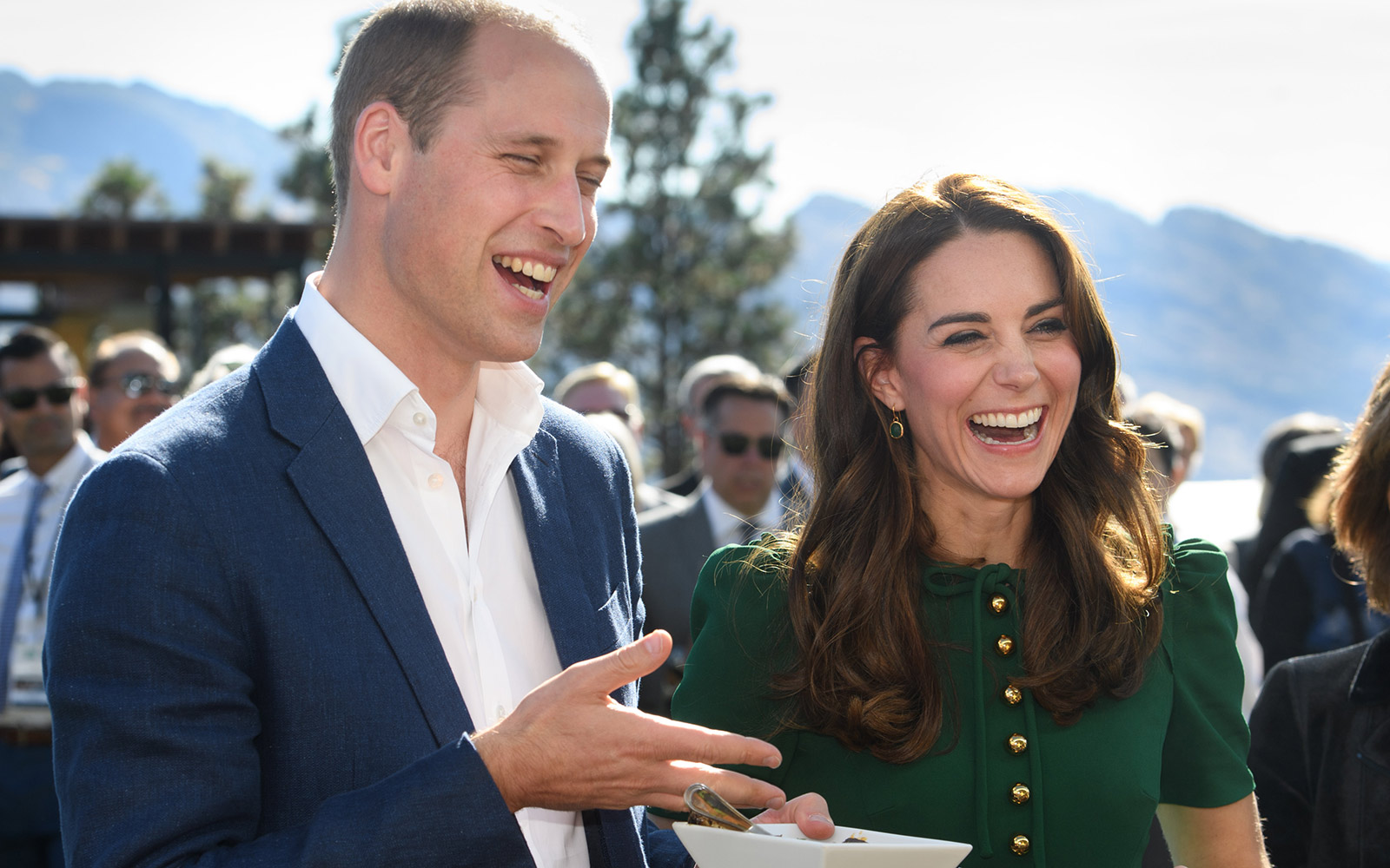 Prince William and Kate Middleton at Mission Hill Windery in Kelowna, Canada