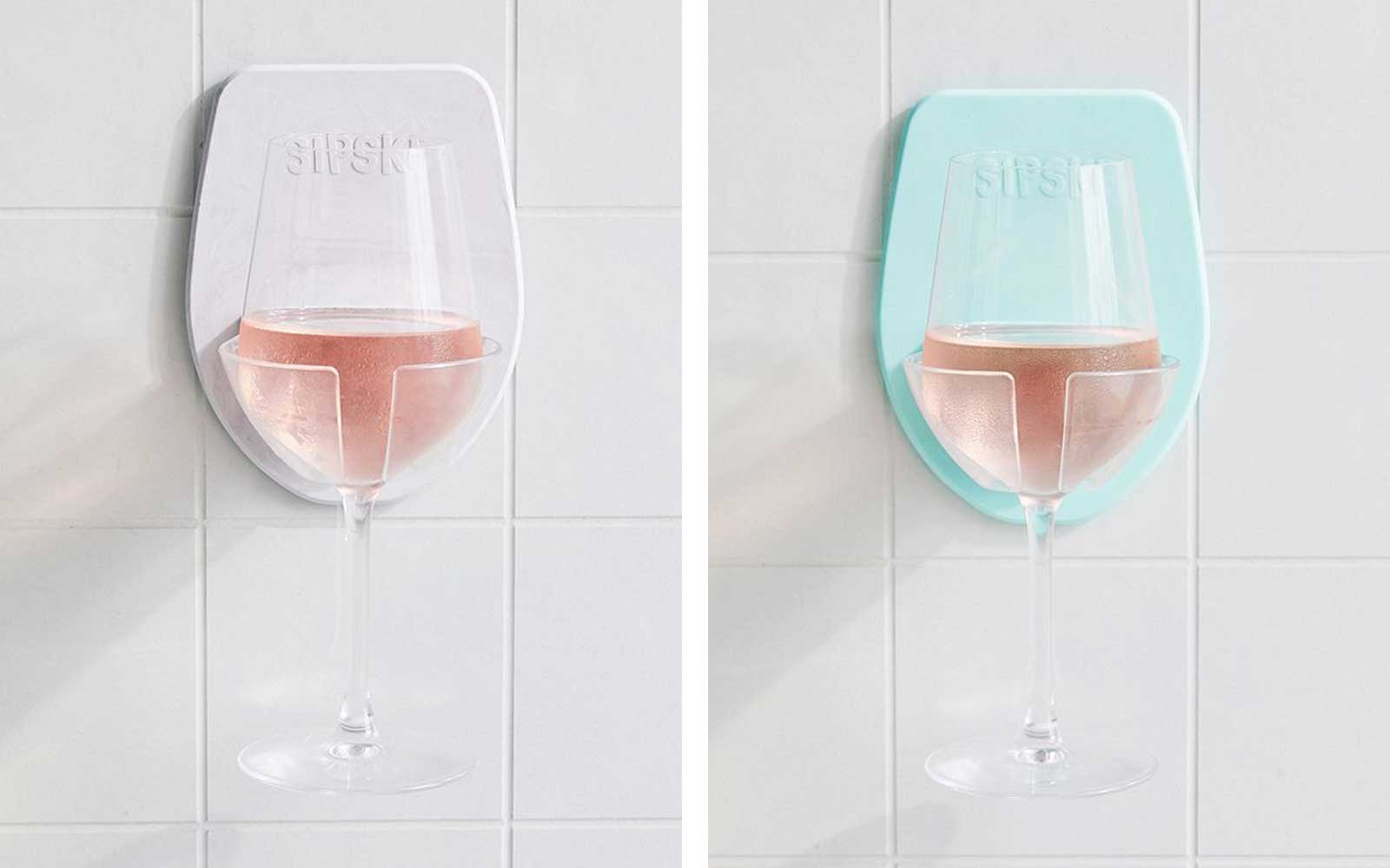 You Can Finally Take Your Wine in the Shower With This Incredible Drink Holder