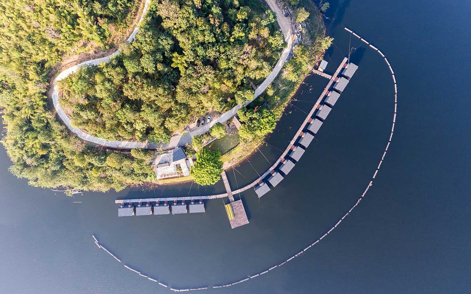 Aerial view of the floating Z9 Resort, in Thailand