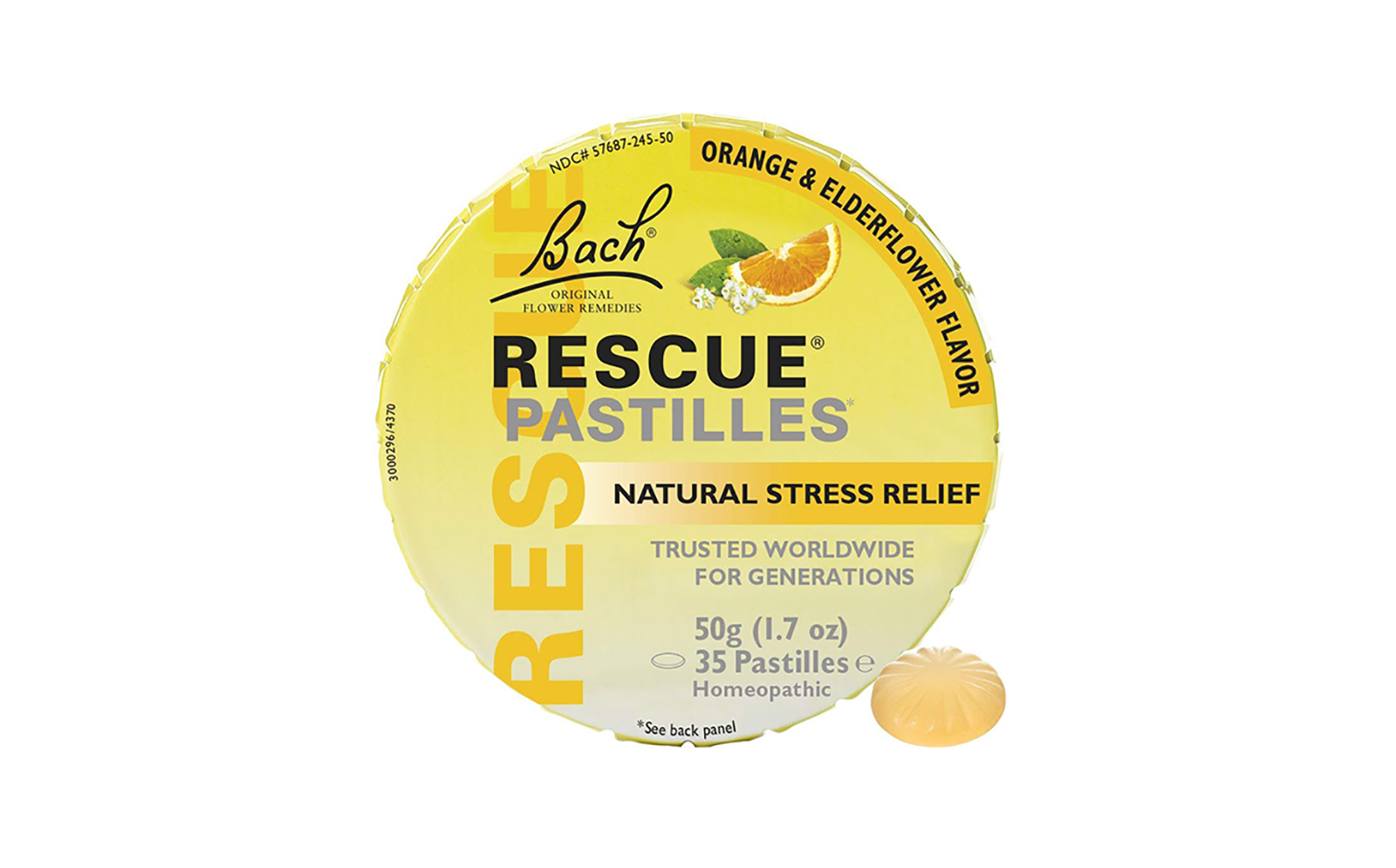Bach Rescue Remedy Natural Stress Relief Pastilles