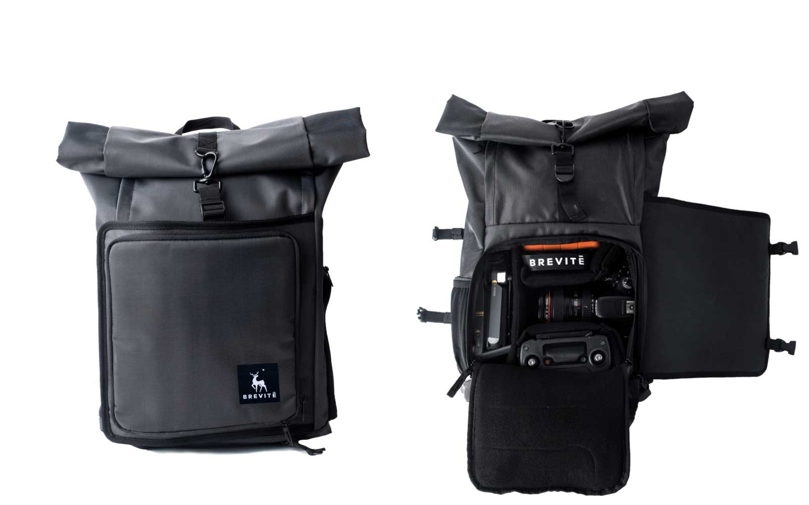 Brevité Backpack Camera Roll Top