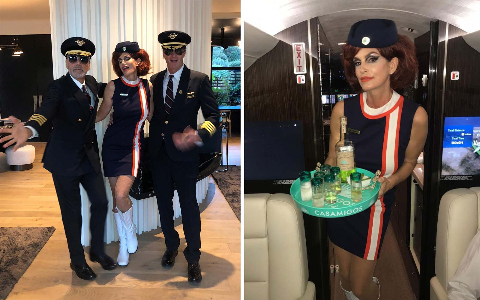 George Clooney and Cindy Crawford Went to a Halloween Party As a Pilot and Flight Attendant