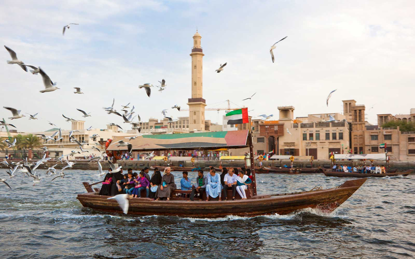 An Abra (water taxi) in Dubai Creek