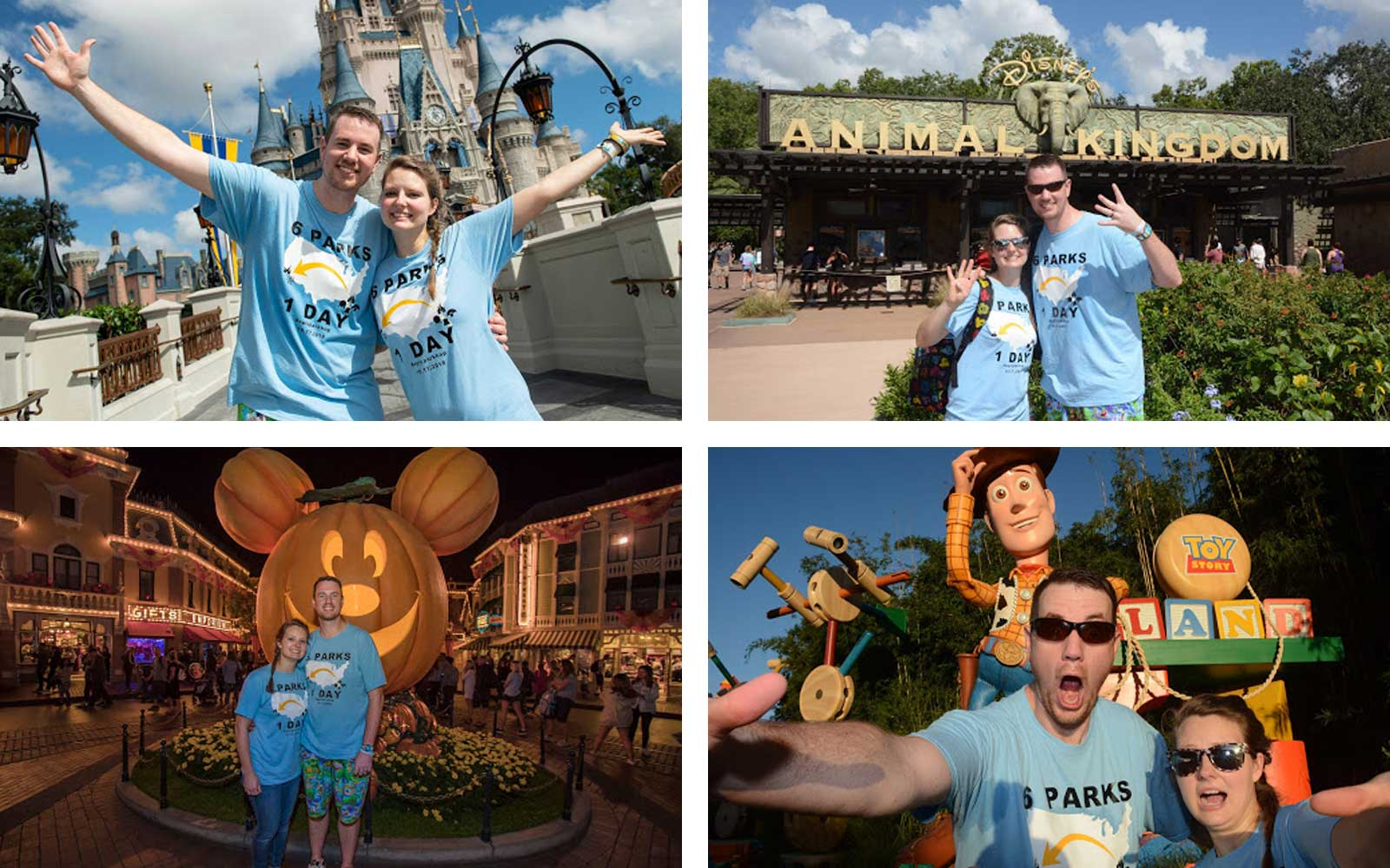 This Couple Celebrated Their Anniversary by Visiting Disney World and Disneyland in One Day