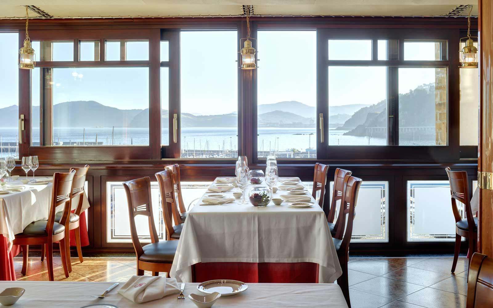 The dining room at Kaia-Kaipe restaurant in Spain