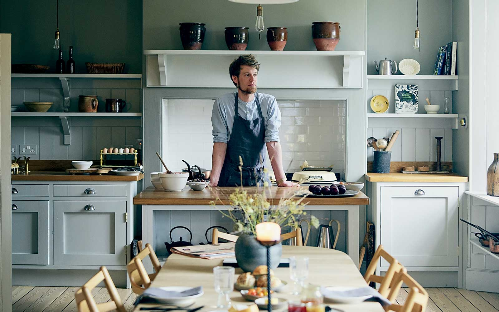 The chef at Killehuntly Farmhouse, in Scotland