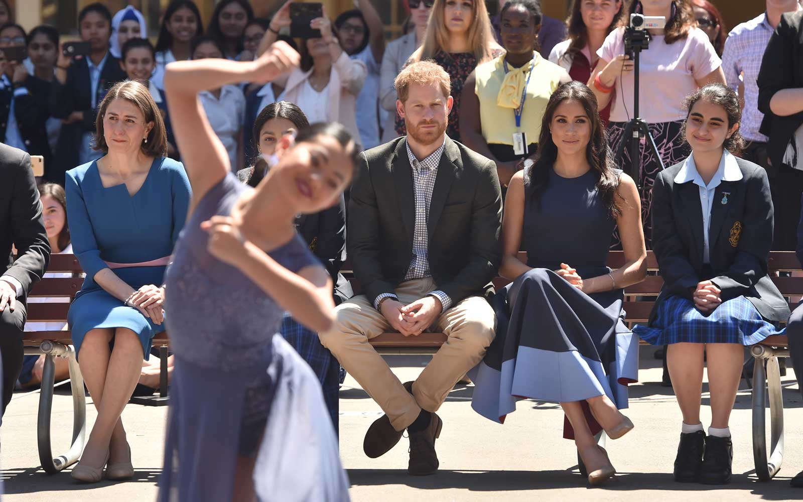 Meghan Markle and Prince Harry Visit School