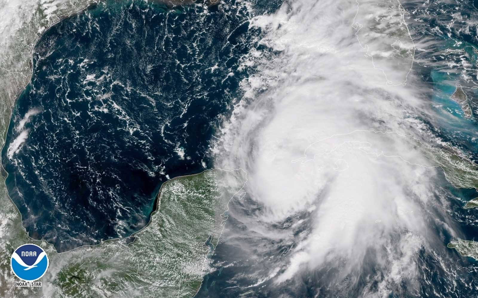 NOAA image of Hurricane Michael
