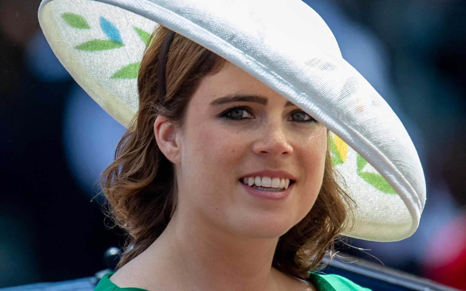 Princess Eugenie during Trooping The Colour 2018 on June 9, 2018