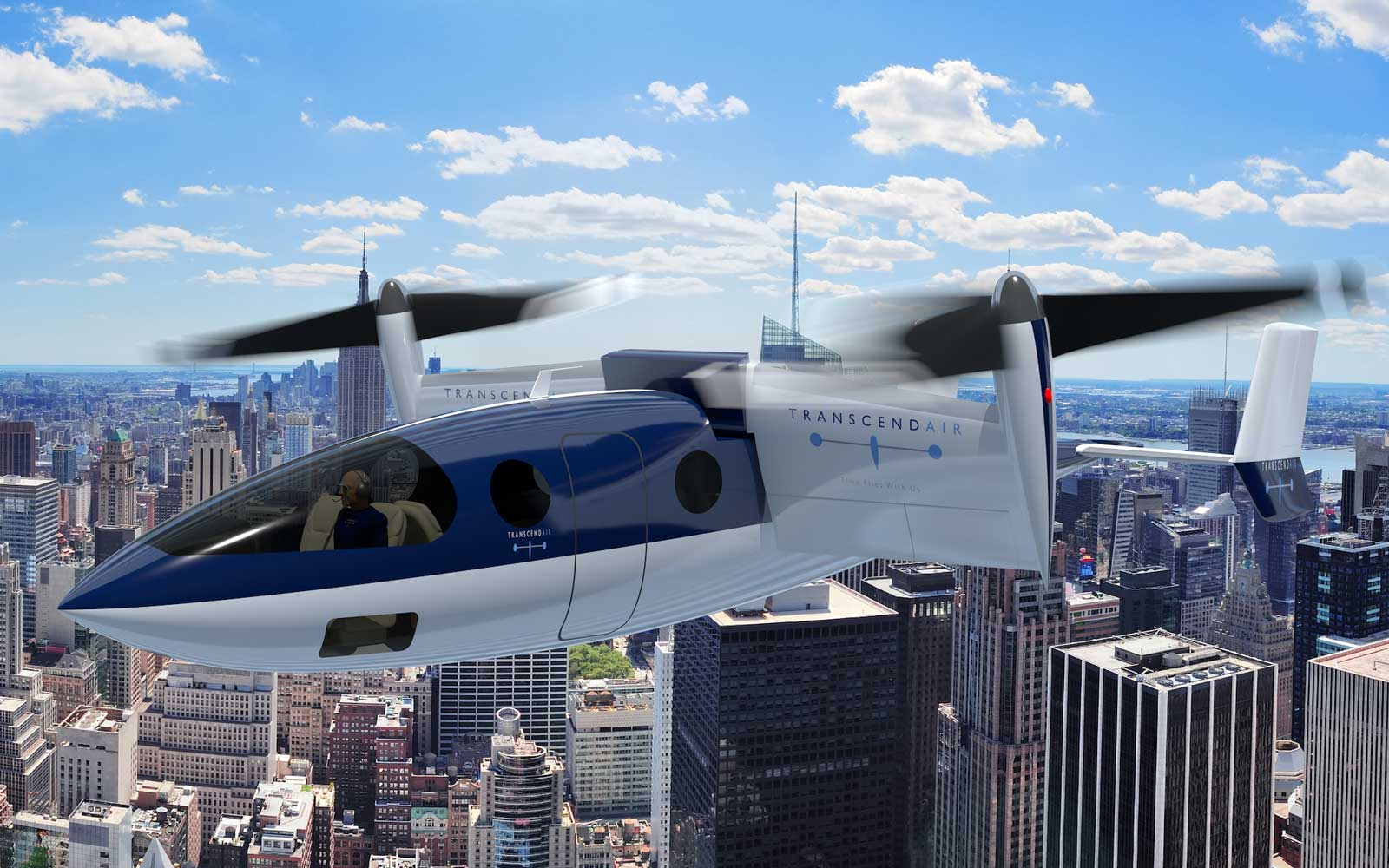 A concept image of Transcend Air's aircraft.