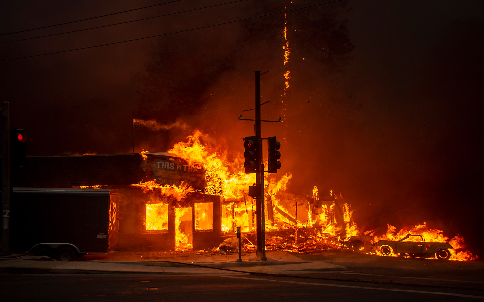 Uncontrolled California Wildfires Force More Than 100,000 People to Evacuate