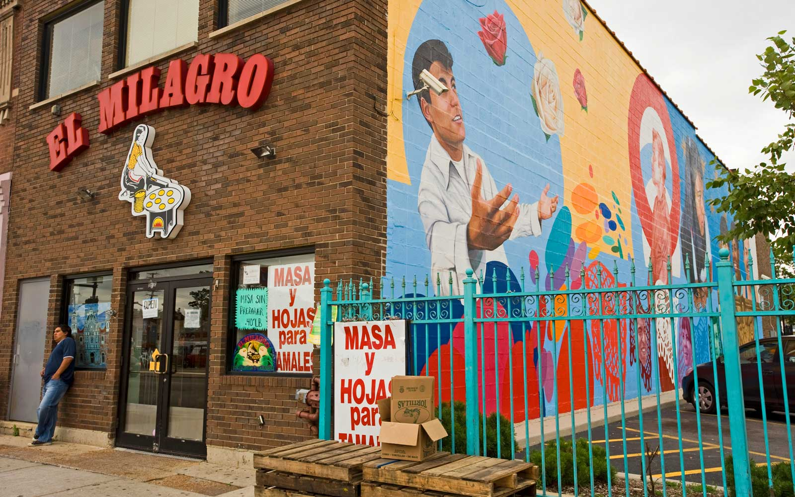 The mexican area called Little Village is the second largest latino community after Los Angeles. Chicago, Illinois, usa