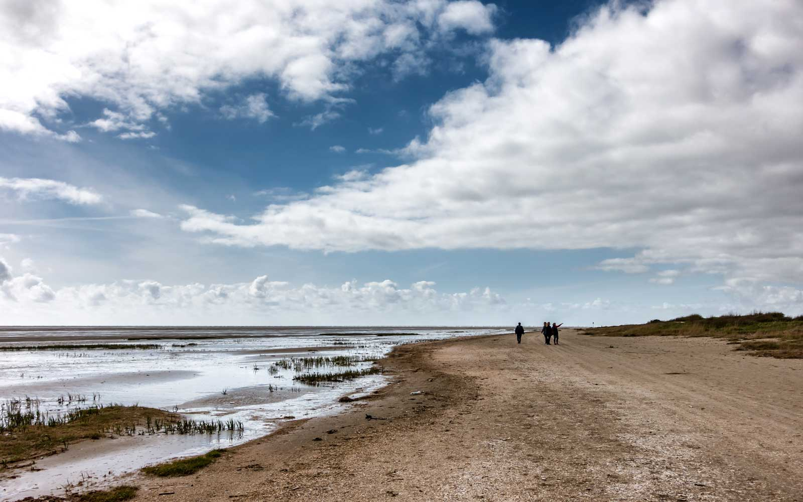 View of the Wadden Sea from Sonderho on Fano Island, Denmark