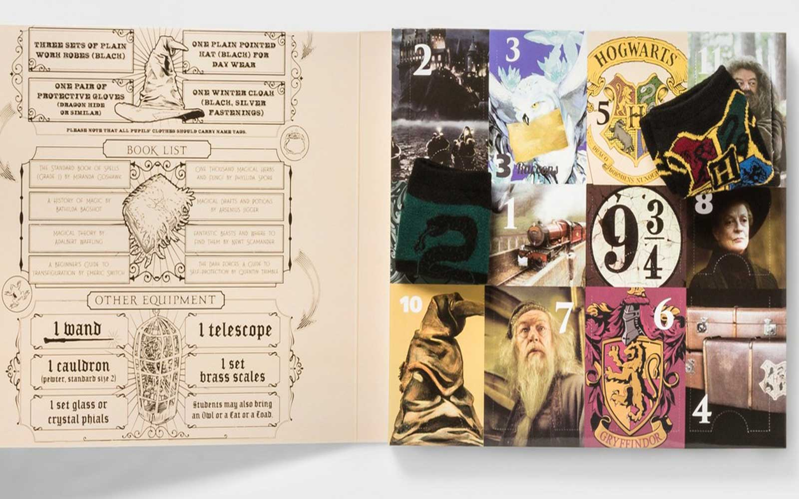 The Harry Potter sock advent calendar collection will be back in stock.