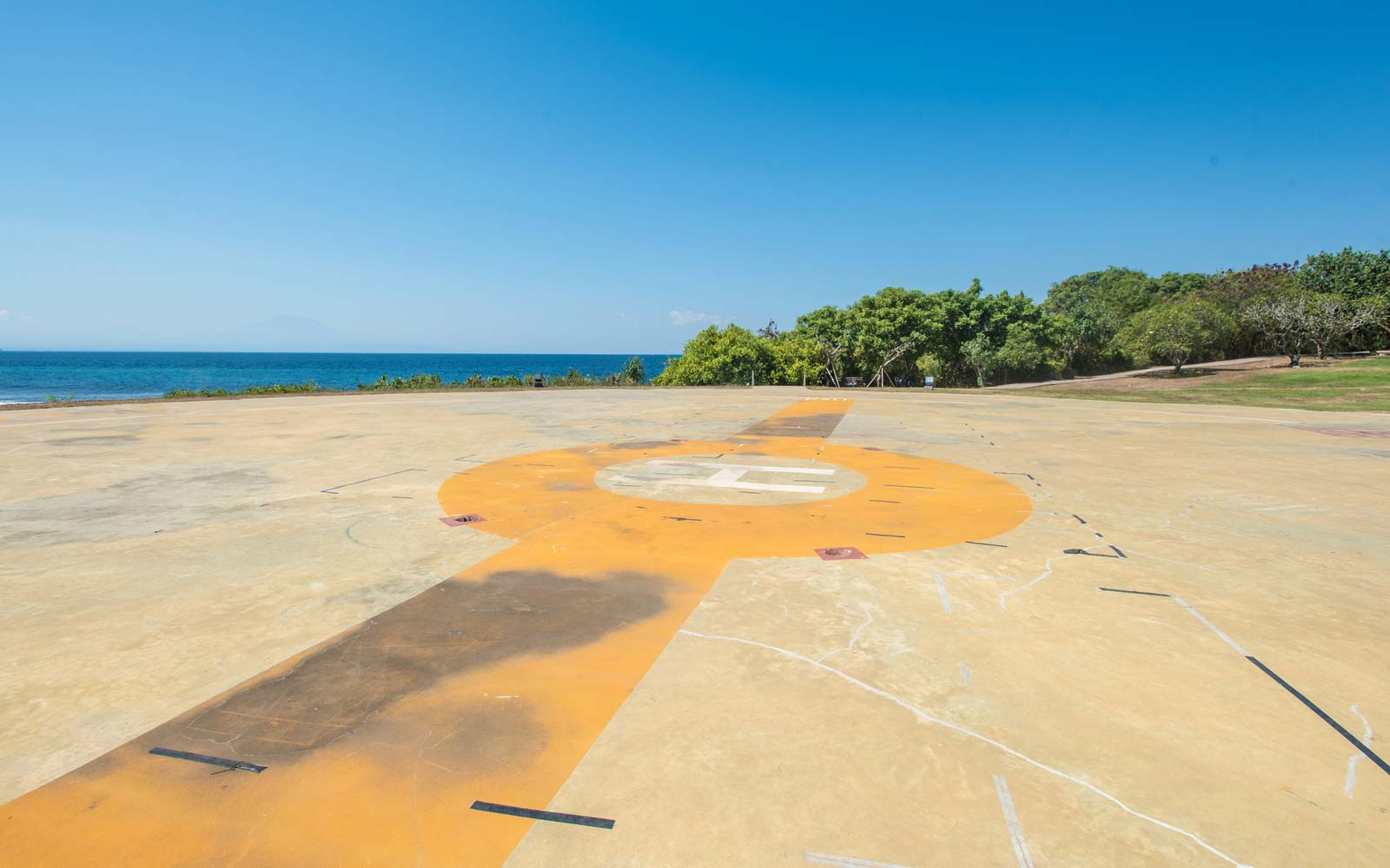 Helipad at seaside