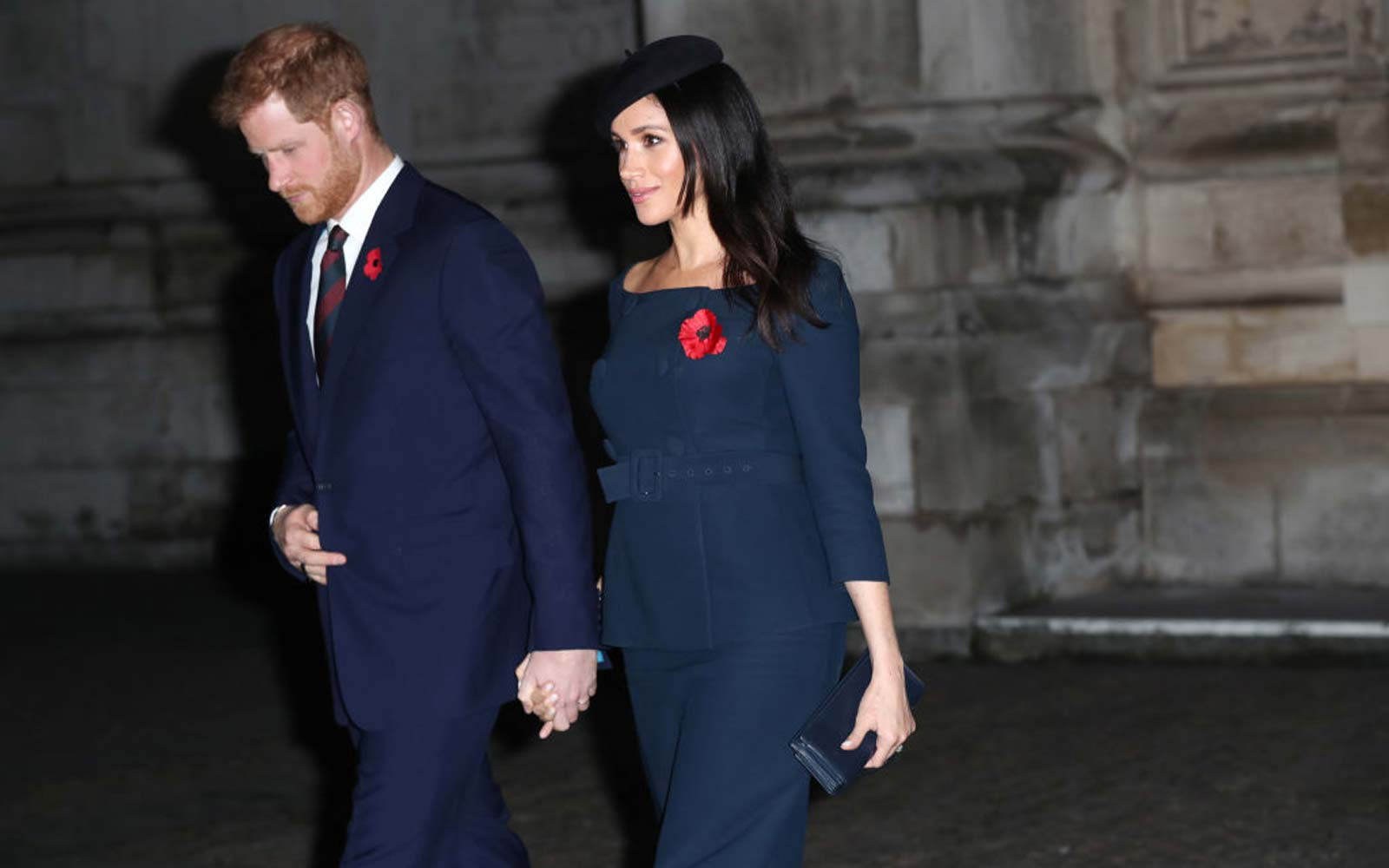 The Duke and Duchess of Sussex leave Westminster Abbey, London, after attending a National Service to mark the centenary of the Armistice