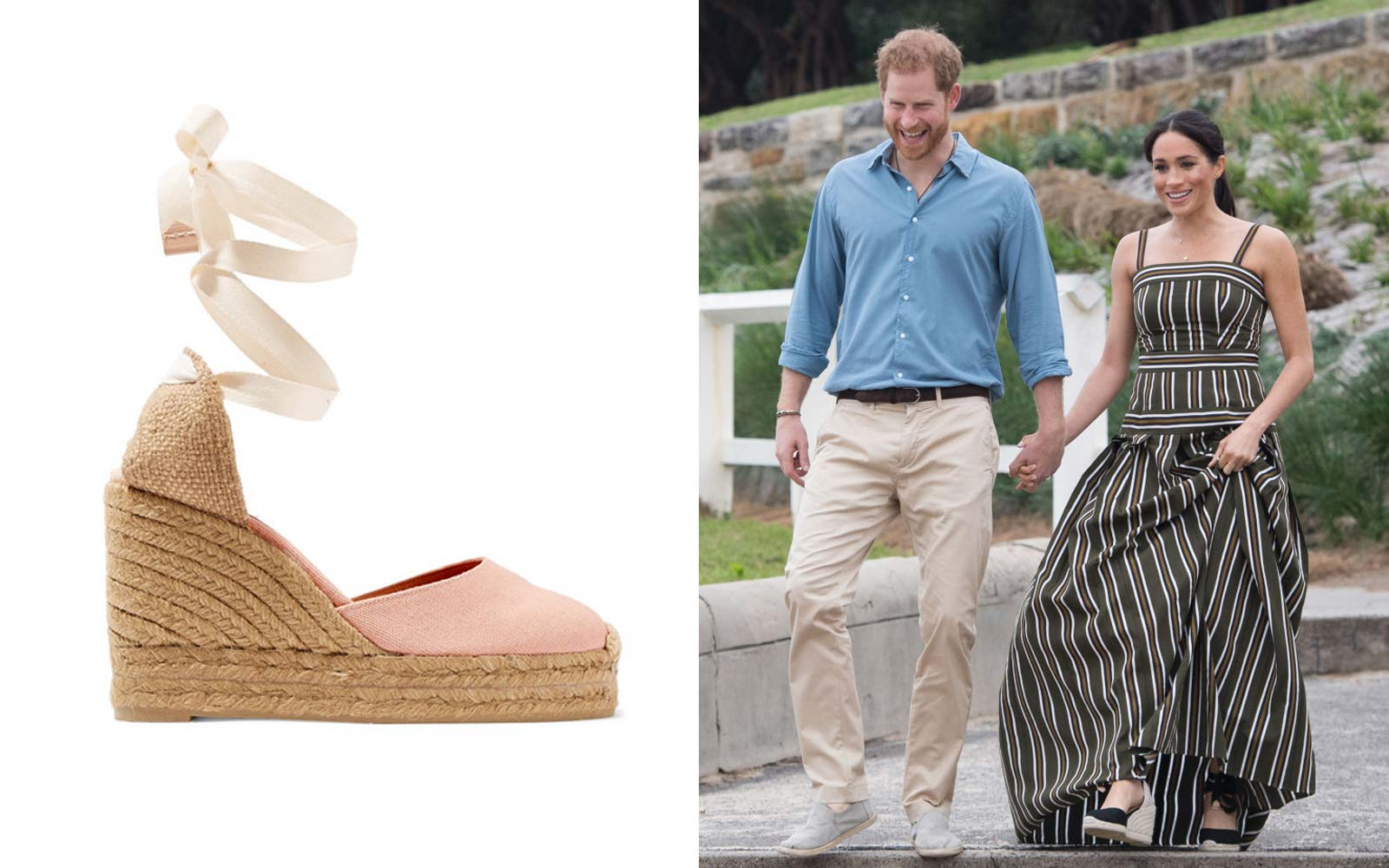 Meghan Markle wears Castaner wedges to Bondi Beach
