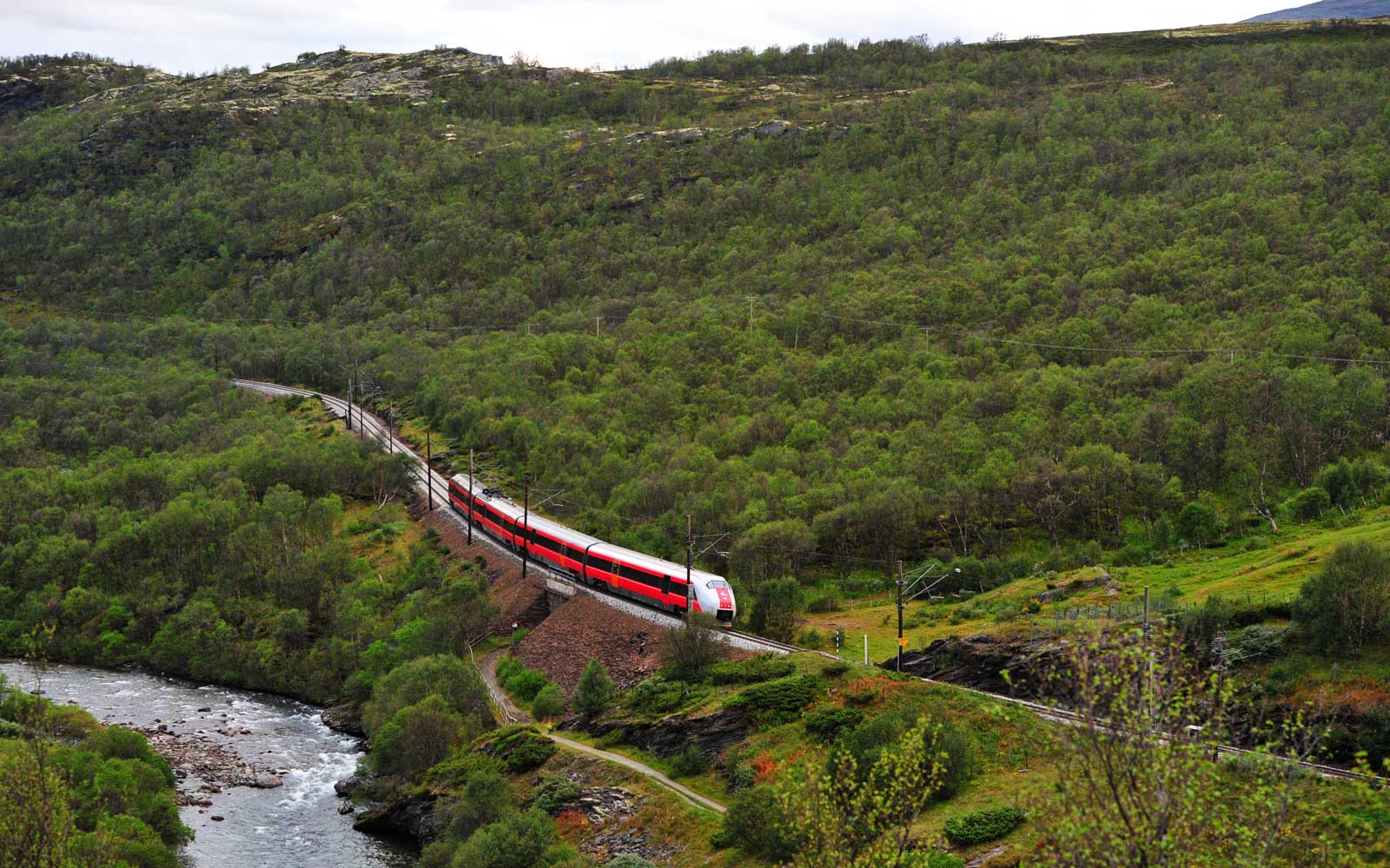 This Rural Train Offers the Most Breathtaking Views of the Norwegian Alps