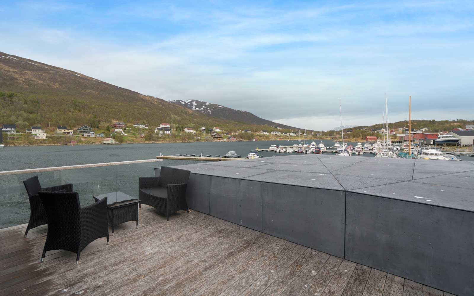 VOLDA Floating House Barge to See the Northern Lights