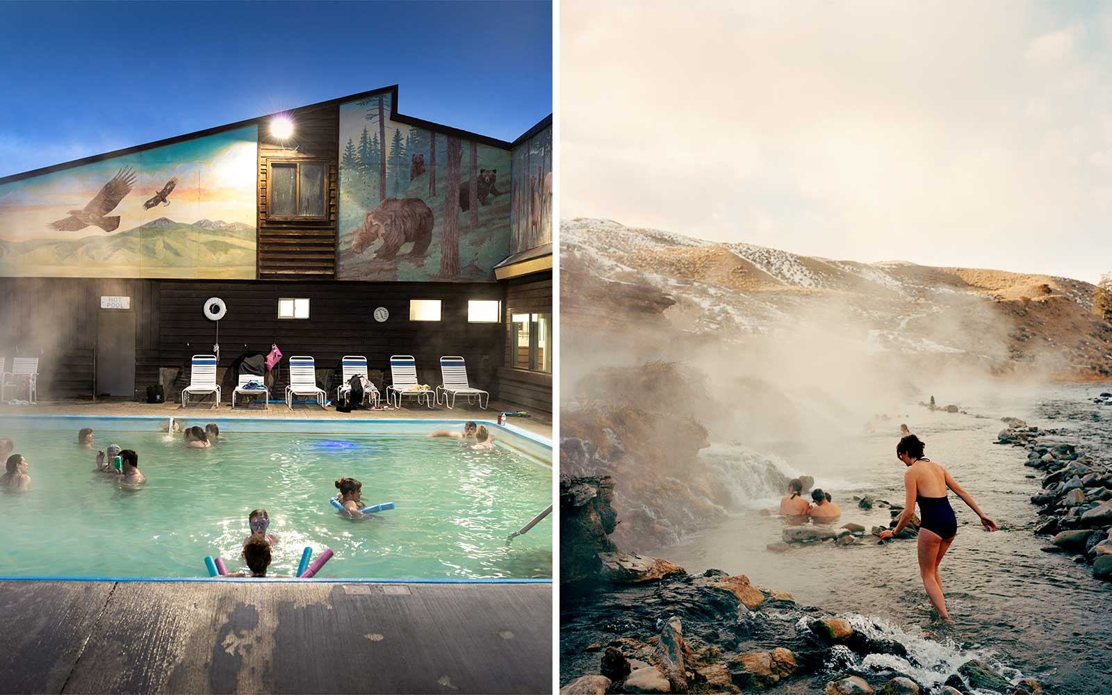 Scenes from Hot Springs in Montana