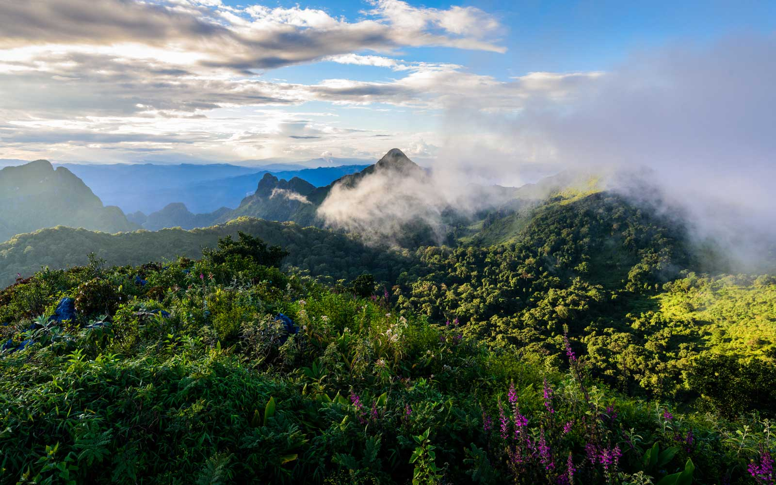 Doi Luang Chiang Dao mountain in Thailand