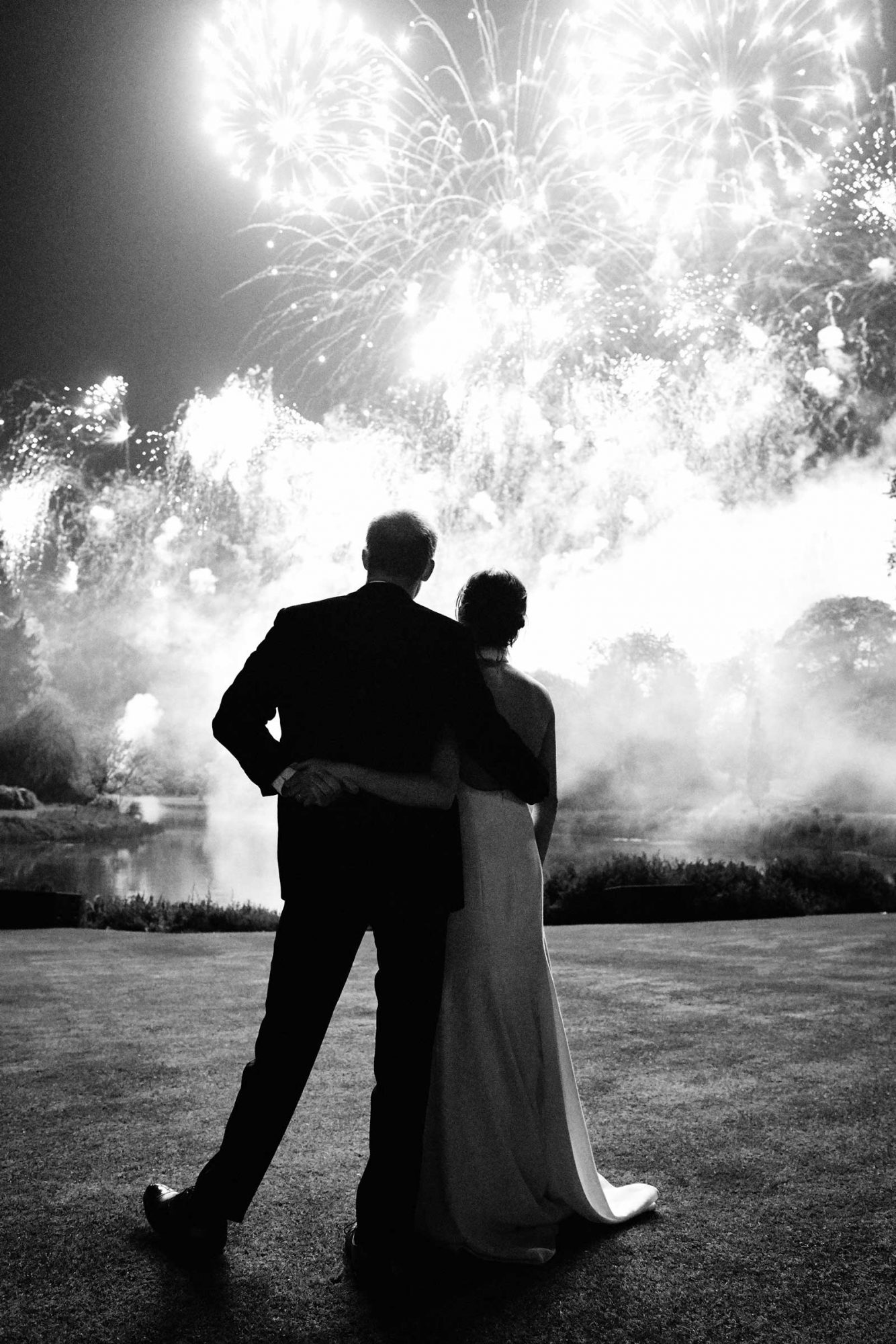 Duke and Duchess of Sussex at their Wedding Reception at Frogmore House