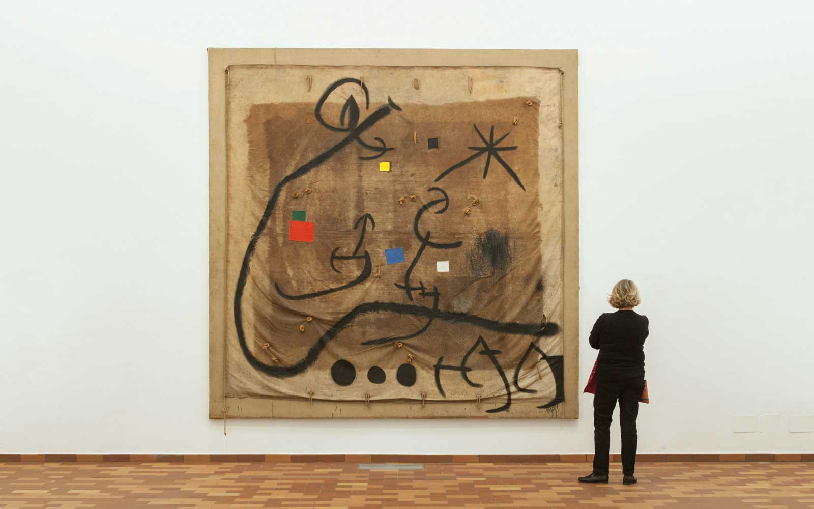 Works by Joan Miro at the Fundacio Miro in Barcelona