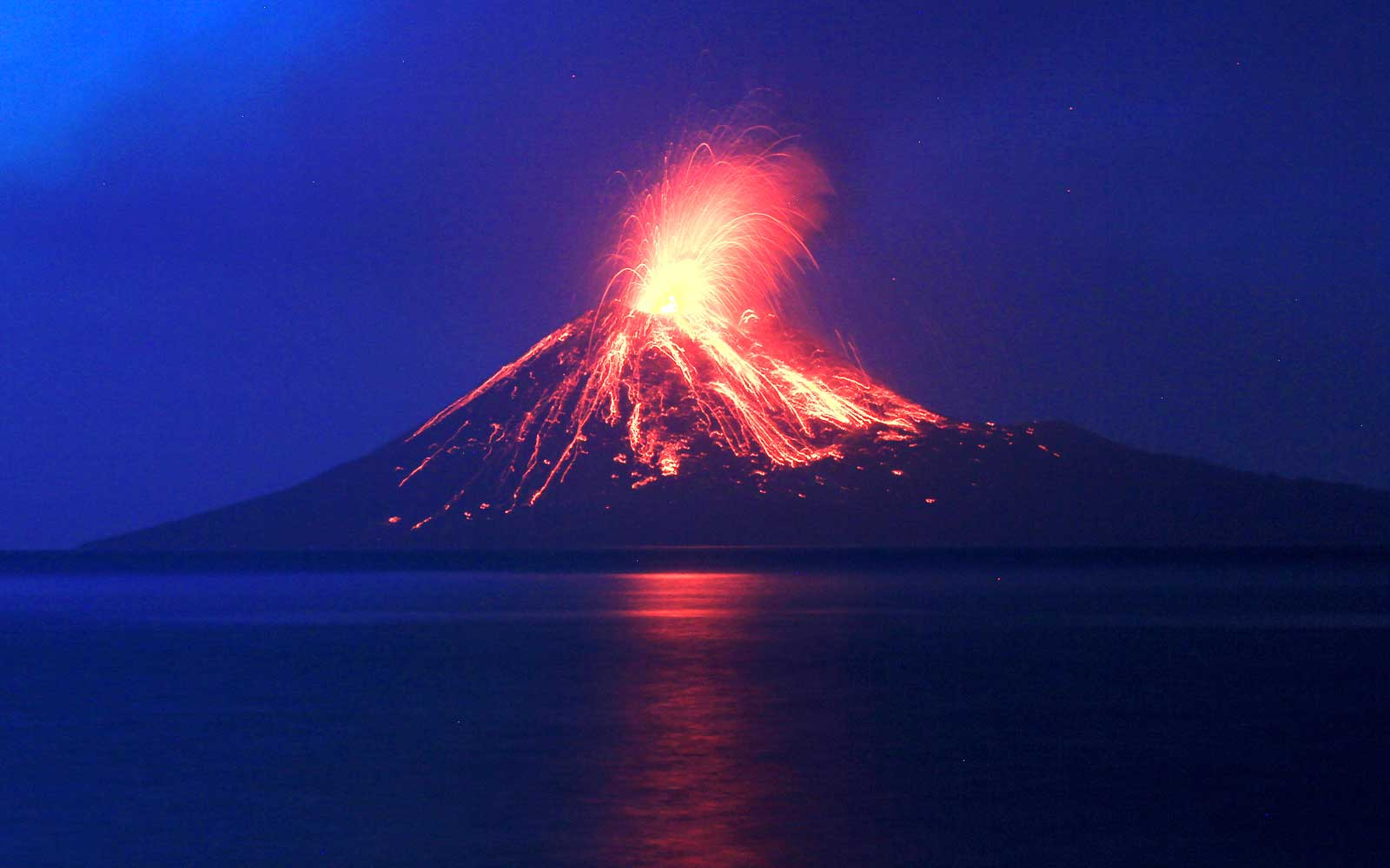 Mount Krakatoa Volcano Eruptions In Indonesia