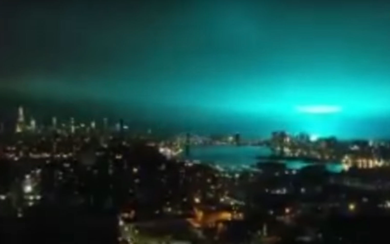 New York City blue skies from ConEd transformer explosion