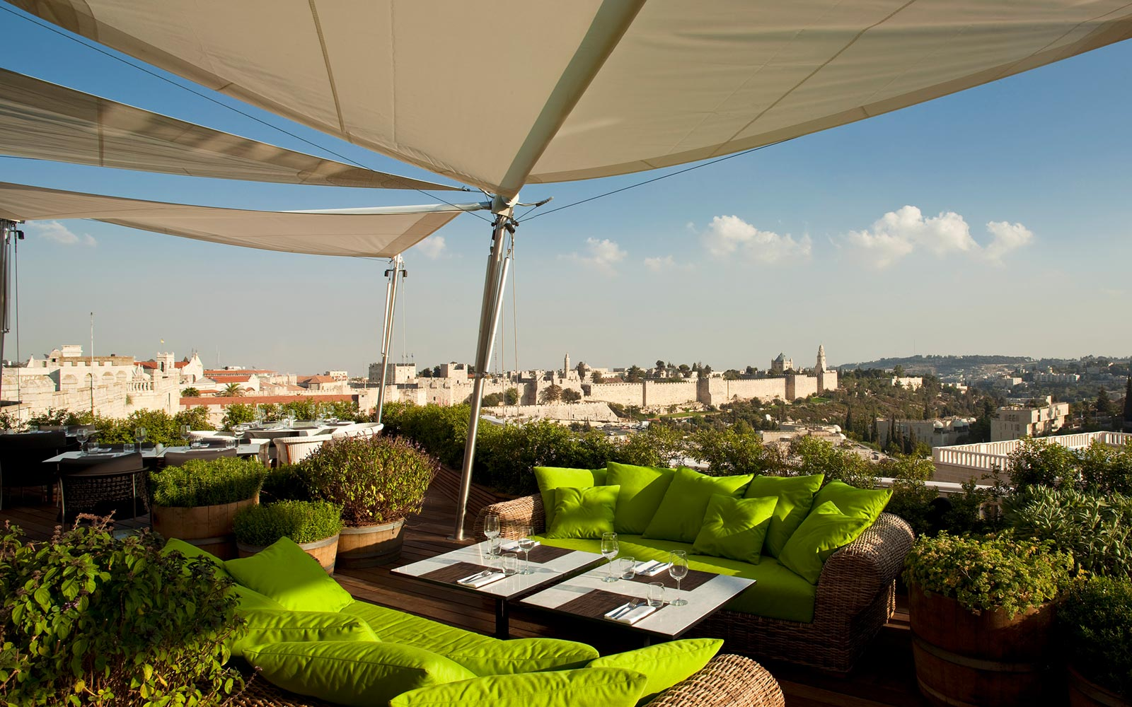 Rooftop Restaurant at the Mamilla Hotel, Jerusalem