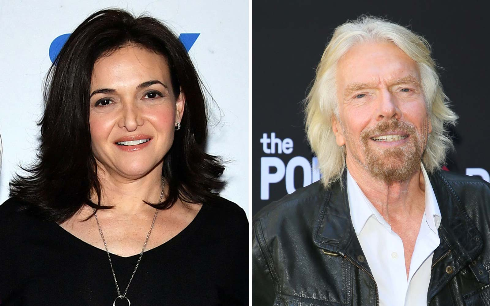 Sheryl Sandberg and Richard Branson