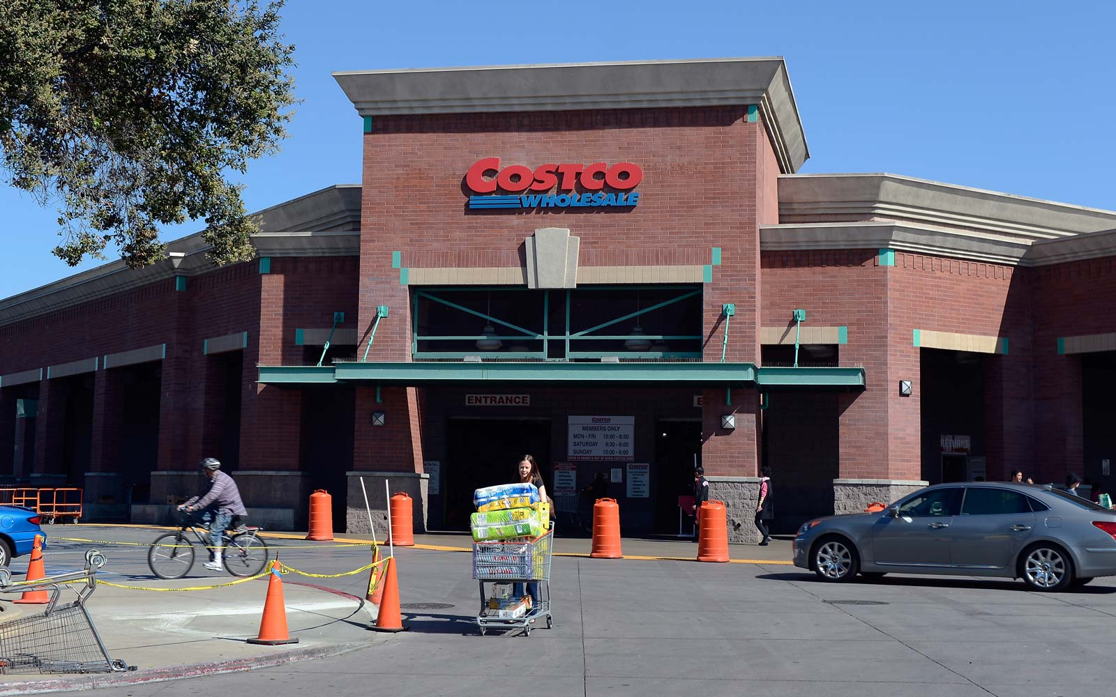 Customers shop at Costco on March 12, 2013 in Los Angeles, California