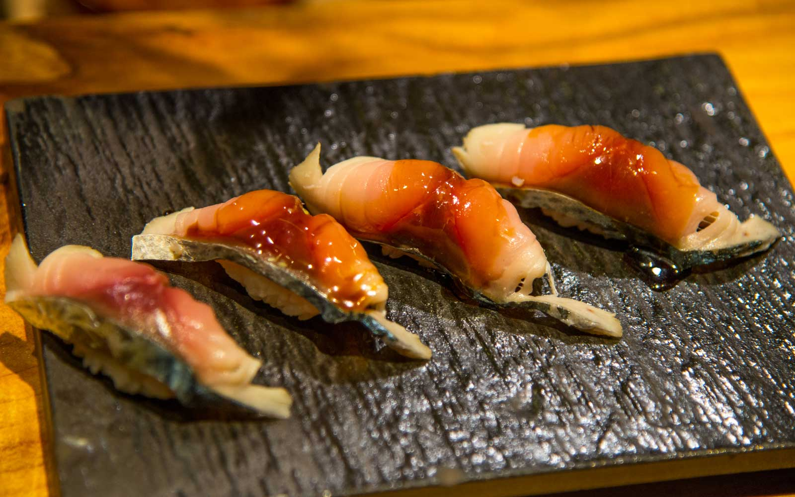 One of the omakase selections from Sushi by Bou Suite 1001.