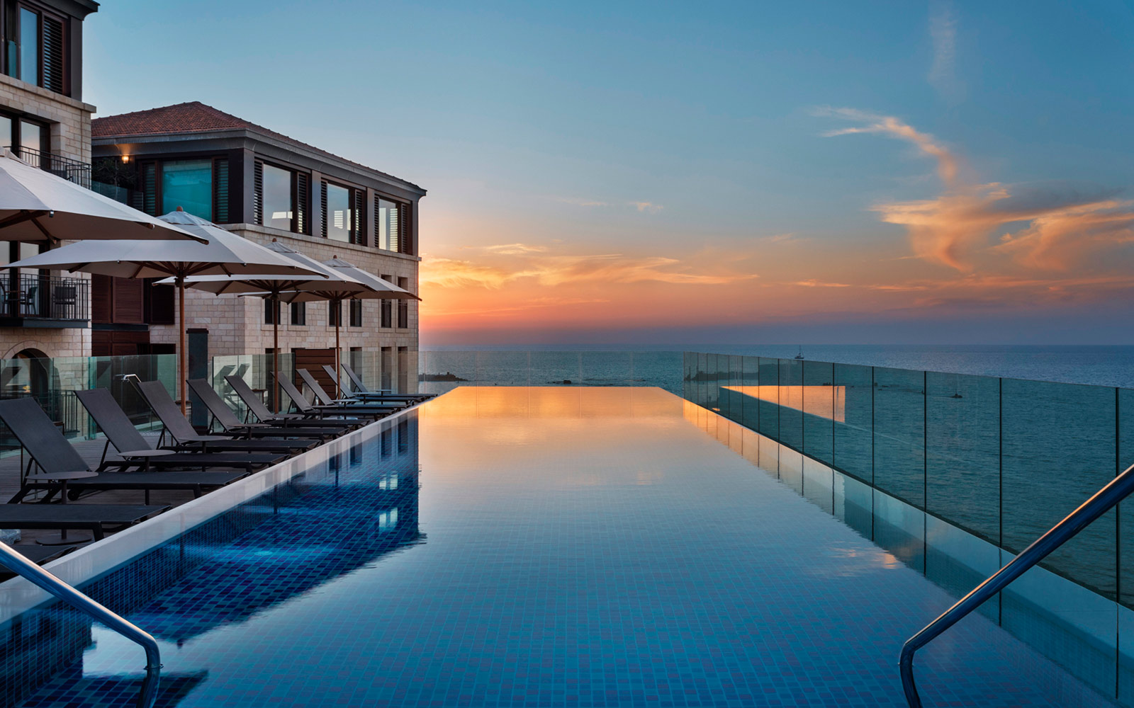You Haven't Seen the Sunset Until You've Visited This Rooftop Infinity Pool Overlooking the Mediterranean
