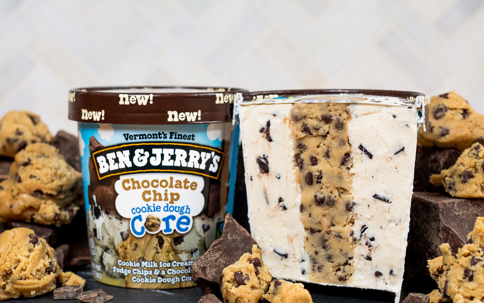 Ben & Jerry's 3 New Flavors All Have Cookie Dough Cores