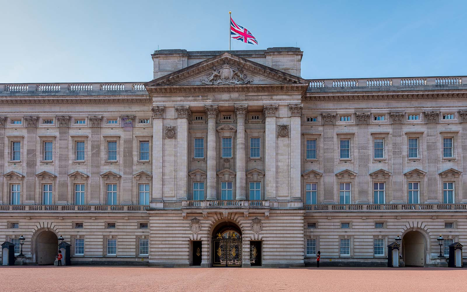 The famous Buckingham Palace in London England